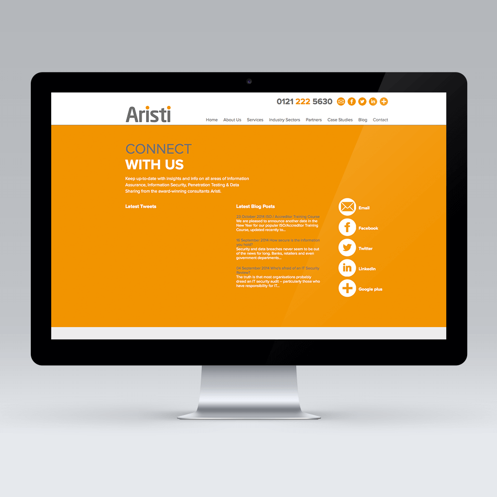 Aristi web design