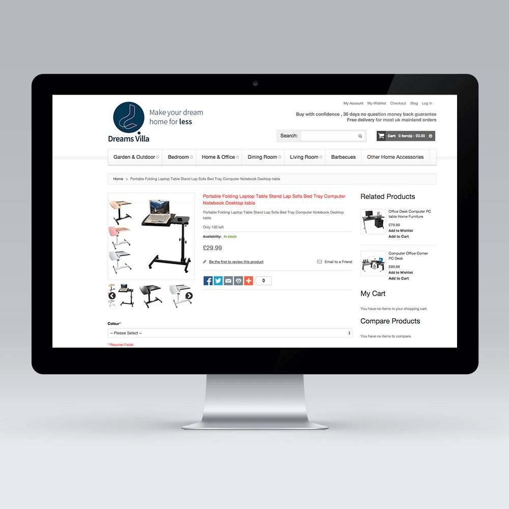 Dreams Villa Magento Product Page