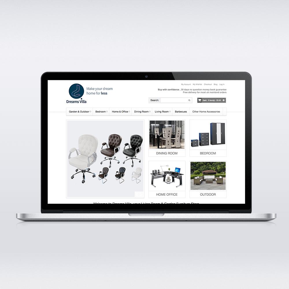 Dreams Villa Desktop Design