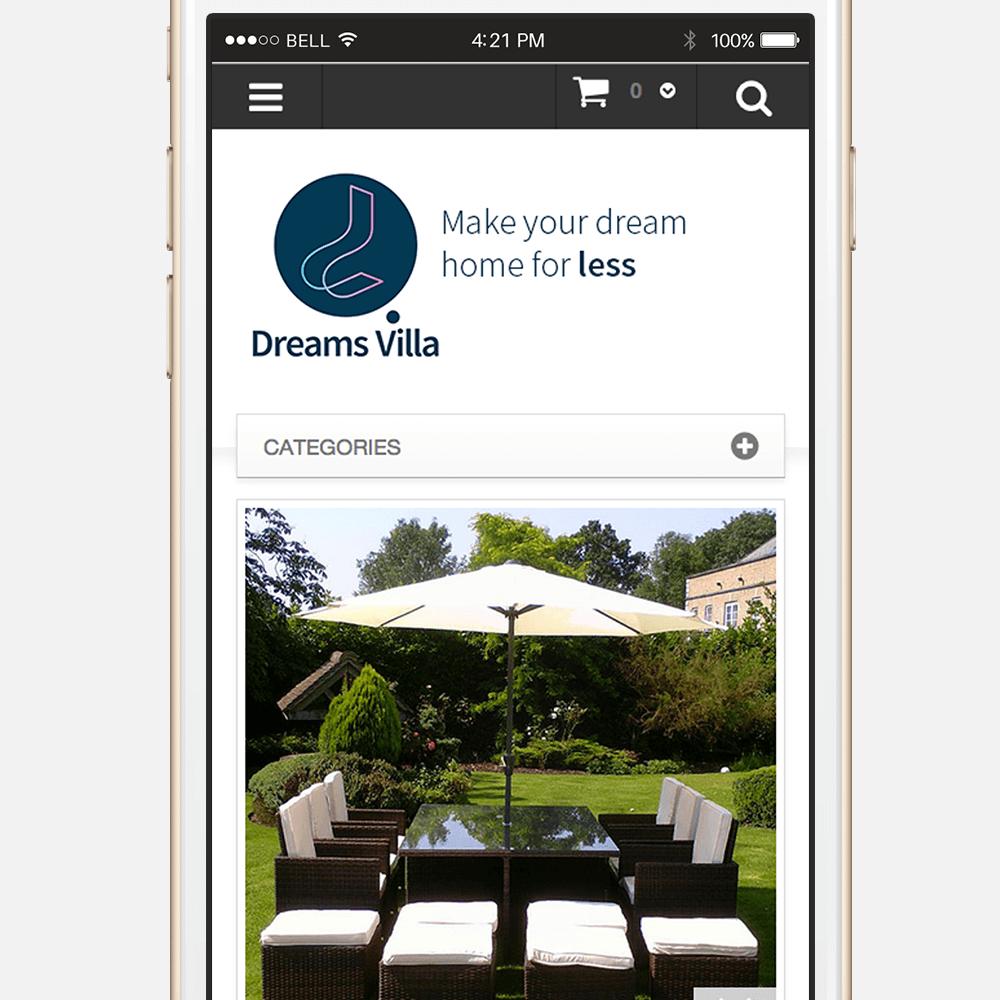Dreams Villa Responsive Magento Design