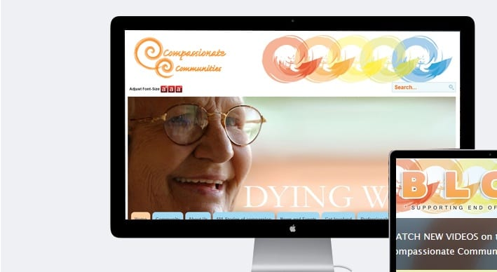 Compassionate Communities Bespoke Joomla Design