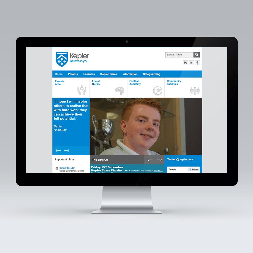 Kepier Sports College Joomla Template Development