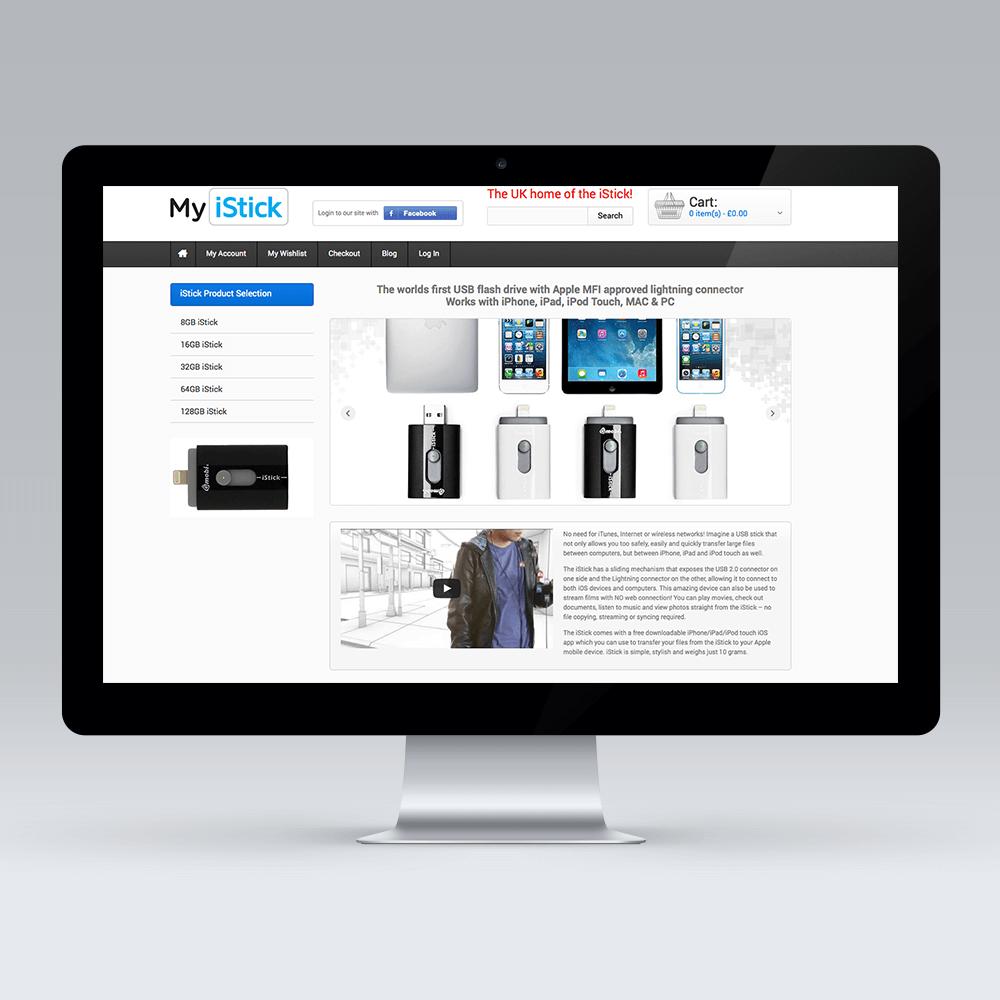 MyiStick web design