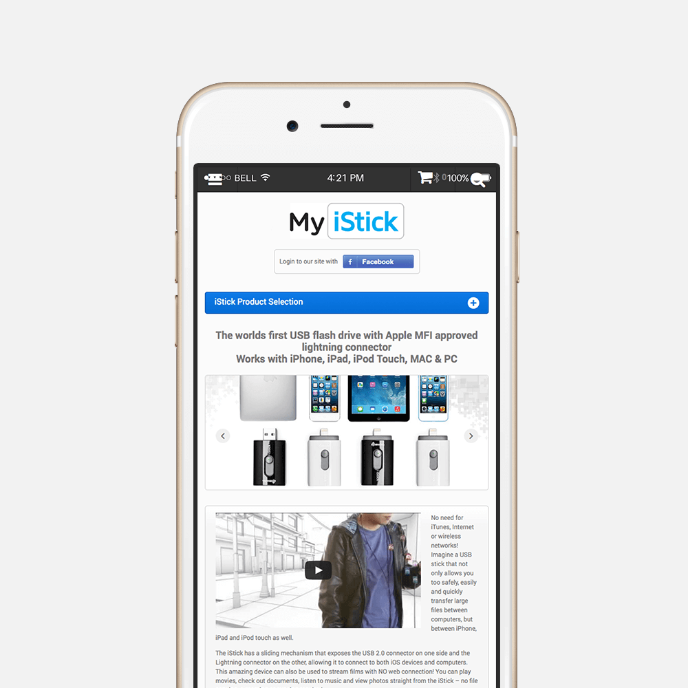 MyiStick mobile design