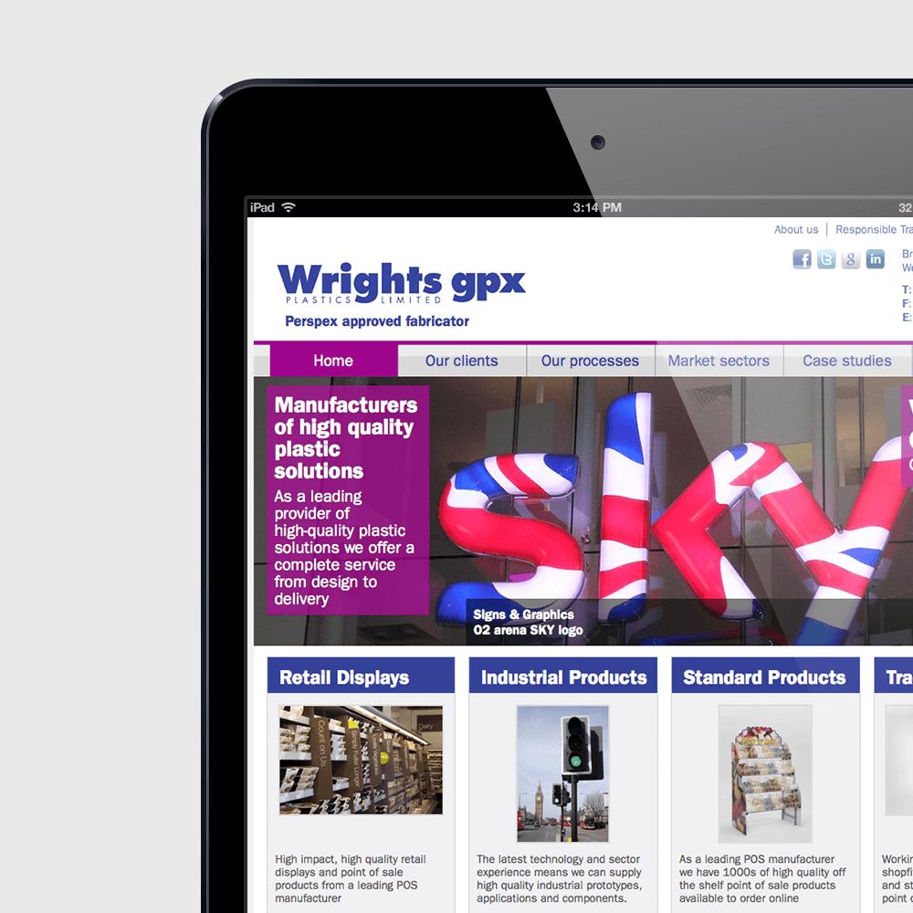 Wrights Plastics Joomla Website