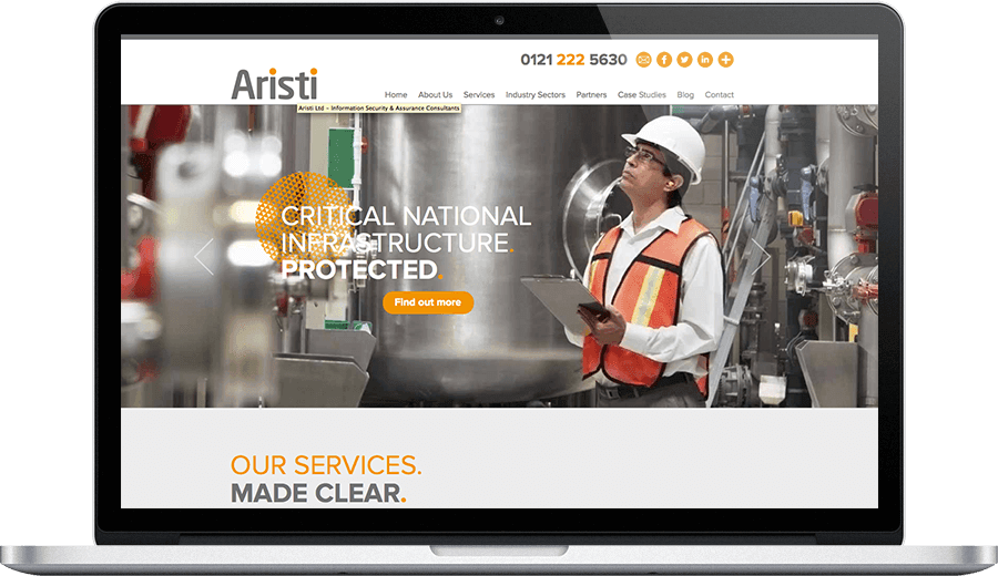 Aristi brand ID and bespoke web design and development from Joomla agency, Opace