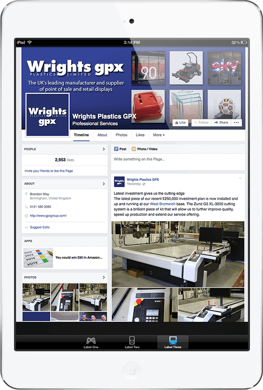Wrights GPX Facebook Management