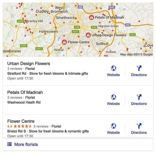 Introducing the new Google 3 Pack for local search results.
