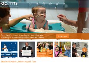 Acorns Children's Hospice Homepage