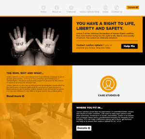Bespoke WordPress Website Design for Justice Upheld