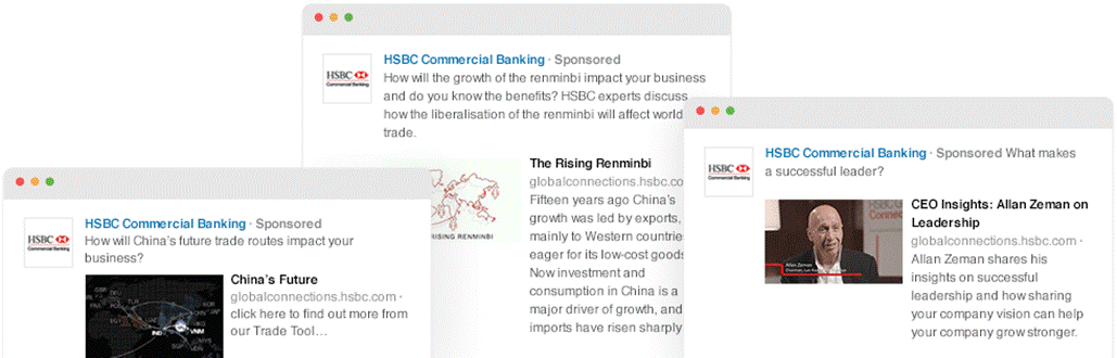 HSBC's targeted ad campaign
