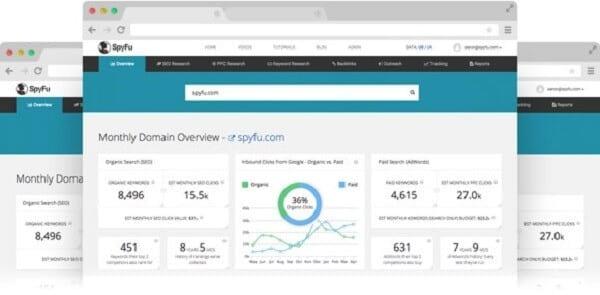 spyfu check competitors backlinks