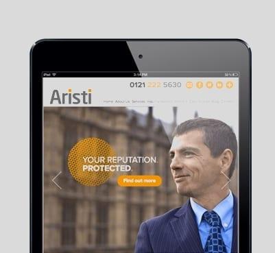 Aristi Bespoke Web Design