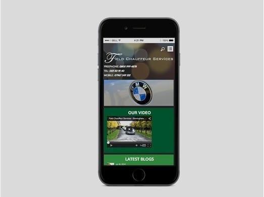 Field Chauffeur Services Mobile Design