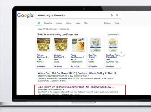 Caulirice google search