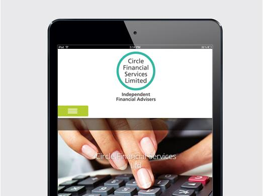 Circle Finance Services  Mobile design