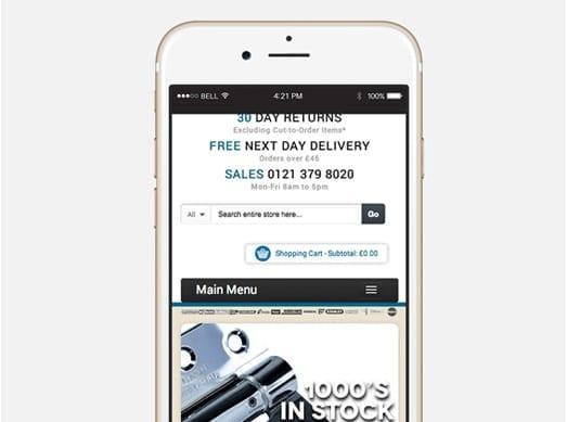 Ironmongery Online responsive online shop design