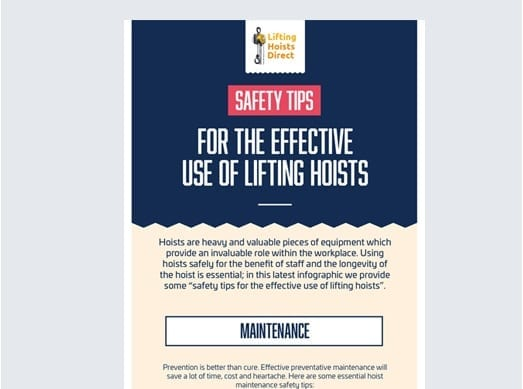 Lifting Hoists Direct Portfolio 1