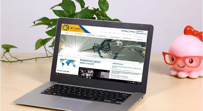 JK Lasers web design