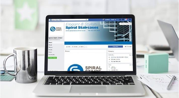 Spiral stairs web design