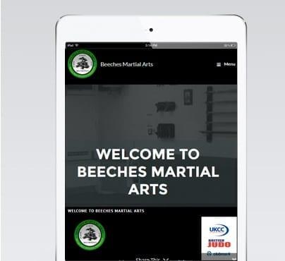 Beeches Martial Arts Mobile Design