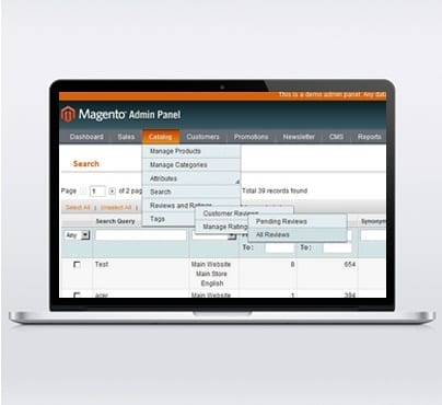 Spiral stairs magento admin panel