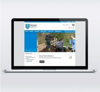 Kepier Sports College Joomla Template Design