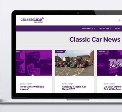 Classicline insurance desktop view