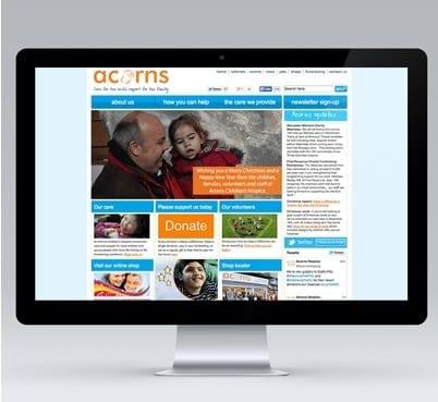 Acorns Bespoke Joomla Design