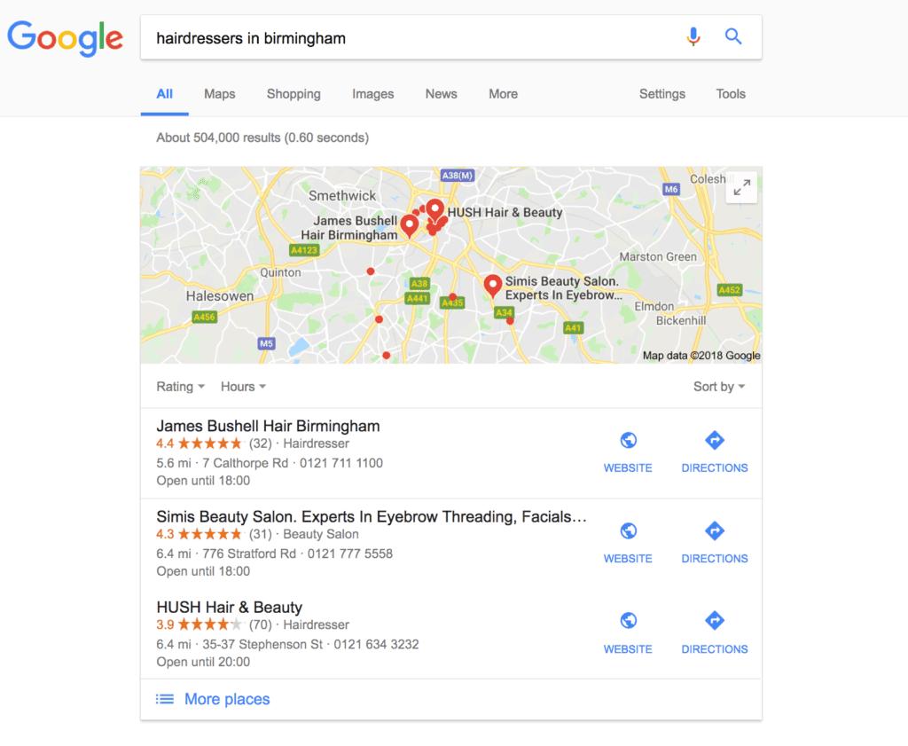 Google localised marketing