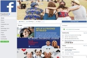 An example of a Facebook page