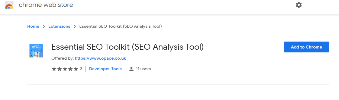 Installation Screenshot showing the Essential SEO Toolkit
