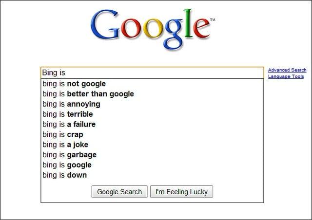 Google vs bing for seo